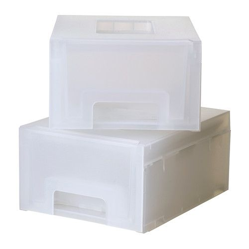 KUPOL Stackable drawers - Ikea - for basement supplies and/or bathroom closet