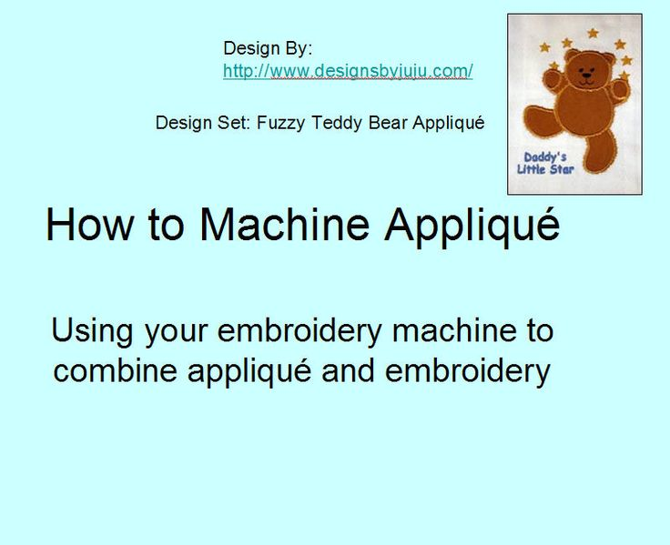 How to machine applique tutorial designsbyjuju