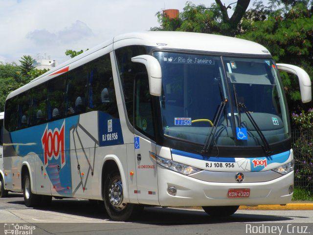 Ônibus da empresa Auto Viação 1001, carro RJ 108.956, carroceria Marcopolo Paradiso G7 1050, chassi Volvo B340R. Foto na cidade de São Paulo-SP por Rodney Cruz., publicada em 14/02/2013 15:13:06.