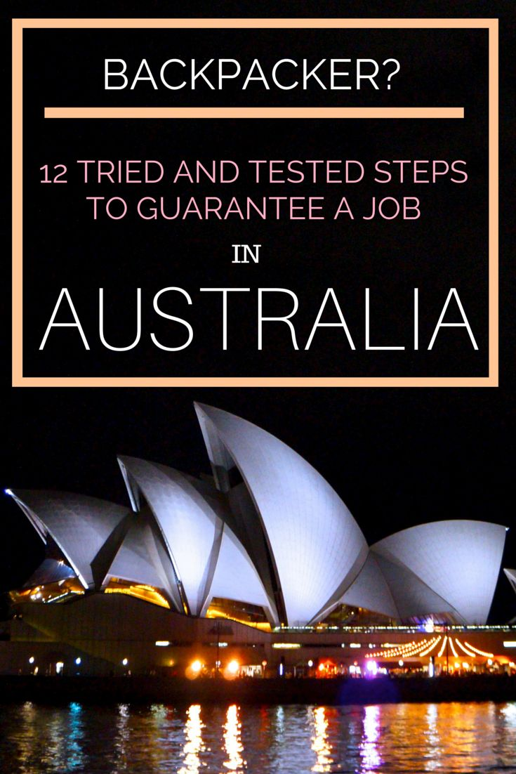 So many backpackers and travellers who visit Australia on their working holiday visa. Why? They haven't followed my 12 simple steps to getting a job here. They're proven too - by me!