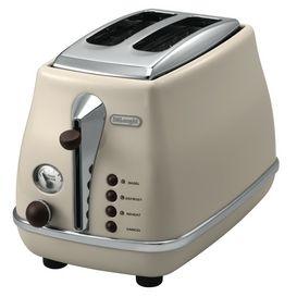 Icona Vintage Toaster 2 Slice Beige