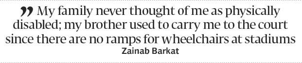 Crippled by circumstances: 23-year-old table tennis player defeats disability - The Express Tribune