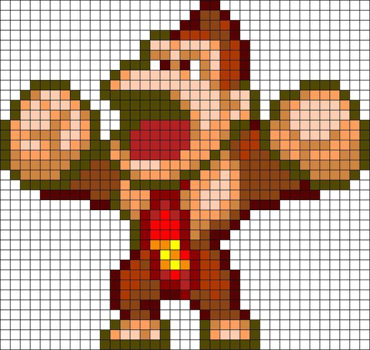 Donkey Kong Perler Bead Pattern / Bead Sprite