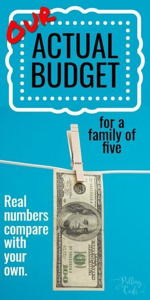 Actual Family Budget Example Frugal Living Money Finances By