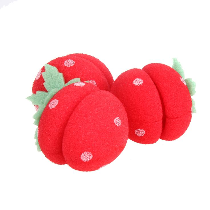 6Pcs Foam Rollers Magical Strawberry Sponge Ball for Hair Curling Best Price