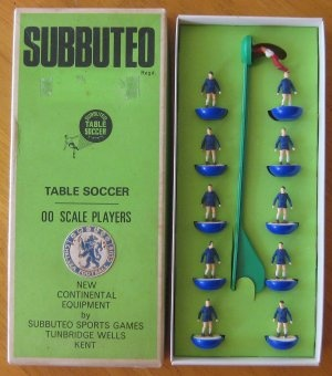 Chelsea Vintage SUBBUTEO Players. Subbuteo was brilliant, we even had a lunch-time league where I worked!