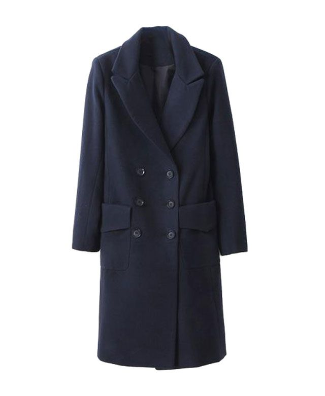 Double-breasted Long Overcoat