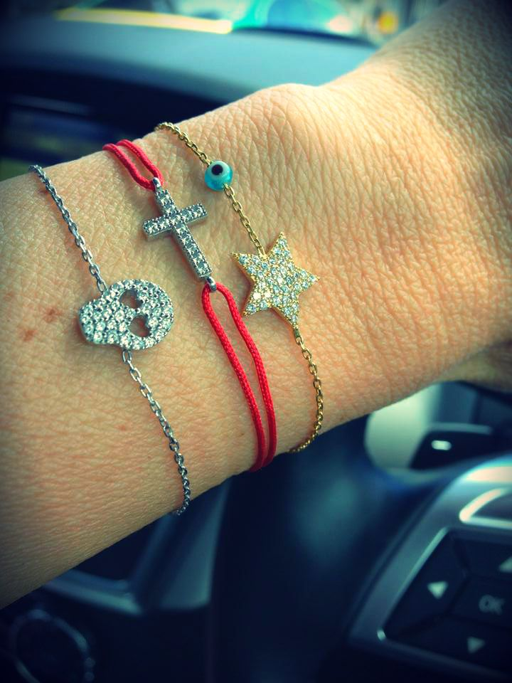Skull Bracelet, Star Bracelet, mini cross bracelet available at www.roaraccessories.com.au