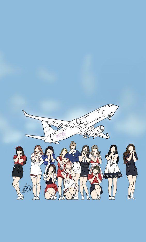 Izone Airplane Selebritas
