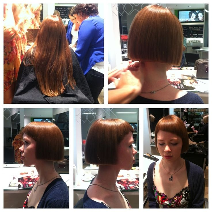 From long locks to sleek bob! Cut by La Sainte director, Kath!