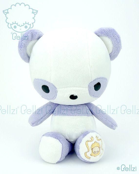 Bellzi® Cute Purple w/ White Contrast Panda by BellziPlushie