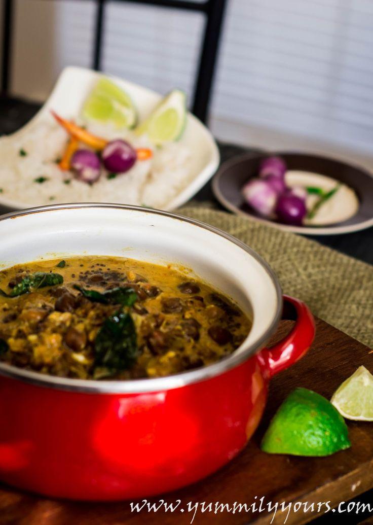 Kerala Kadala Curry, chickpeas in coconut milk curry