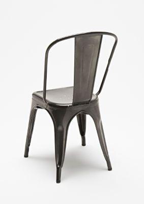 Chaise empilable A / Acier brut - Pour l'intérieur Acier brut verni janvier 1 (foncé) - Tolix