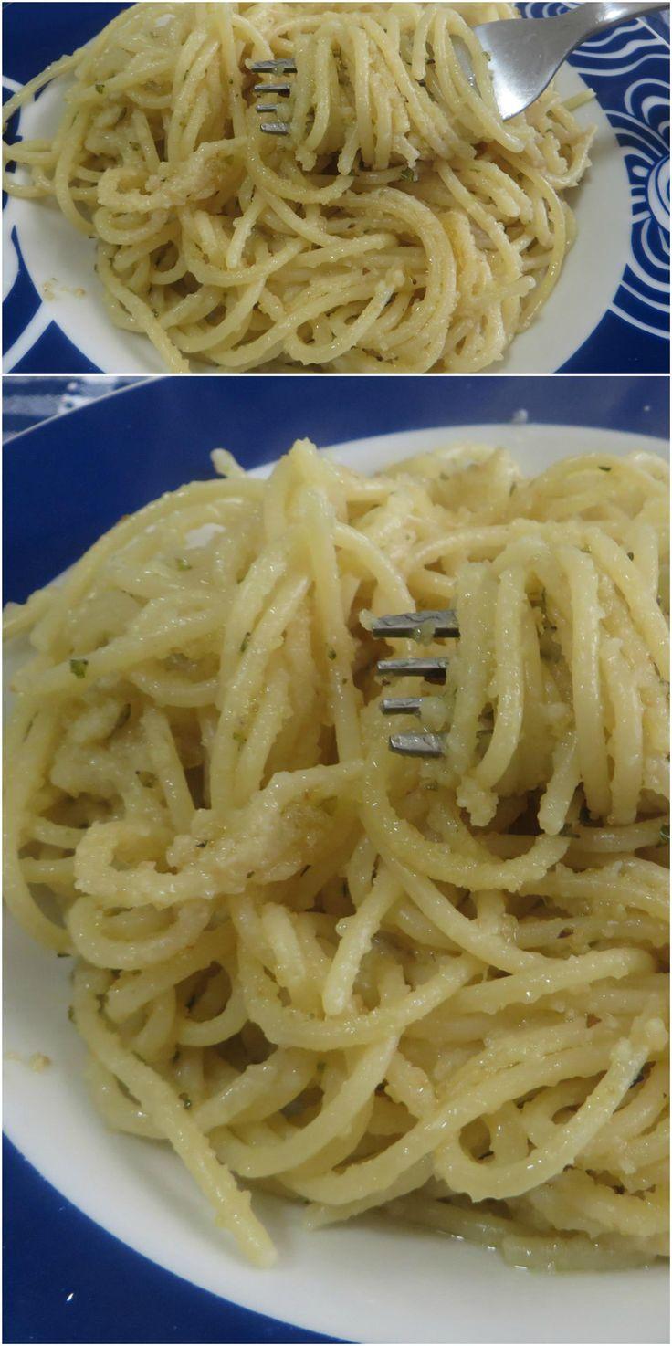 Spaghetti al pangrattato, semplice e velocissimi da preparare! #spaghetti #pangrattato #ricettegustose