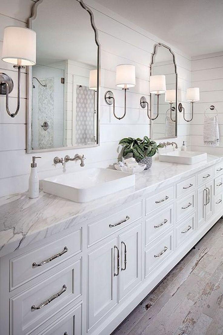 Cool 125 Best Farmhouse Bathroom Vanity Remodel Ideas https://roomadness.com/2018/01/14/50-best-farmhouse-bathroom-vanity-remodel-ideas/
