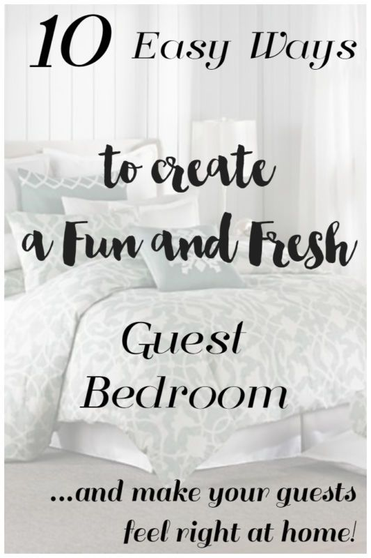 10 Easy Ways To Create A Fun And Fresh Guest Bedroom Decorating Bedroomsroom Decorating Ideasbedroom