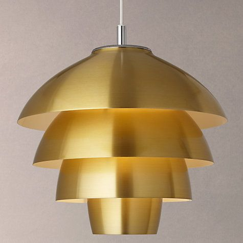 Buy John Lewis Oslo Ceiling Light, Brass Online at johnlewis.com