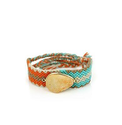 Wayuu Armband met Edelsteen 117 - €39,95