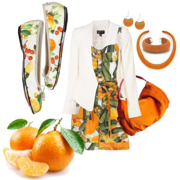 """Tropical tangerine"" by karen-chantrey-wood on Polyvore"