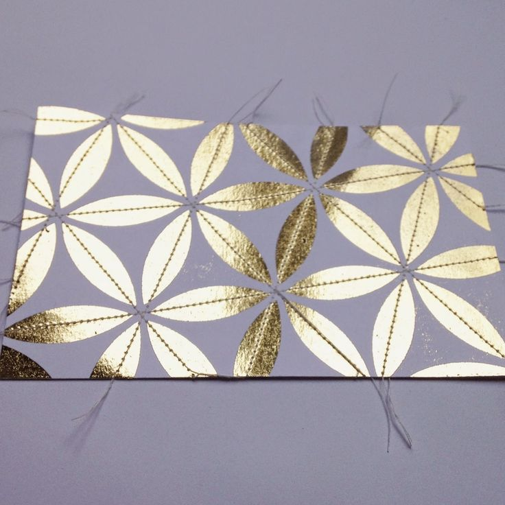 Stitching on Foil - cannycrafter