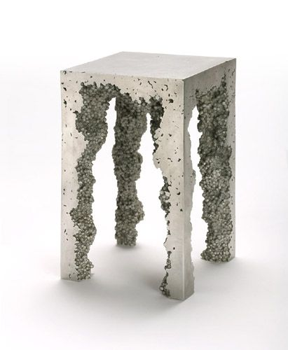 Trippy, but this cast aluminum table from Reddish is like freaky styrofoam art.