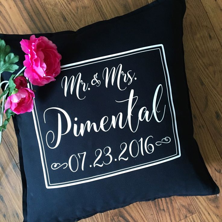 As a wedding gift, or reception decor piece, these Mr and Mrs Pillows are a beautiful personalized touch for the happy couple💗