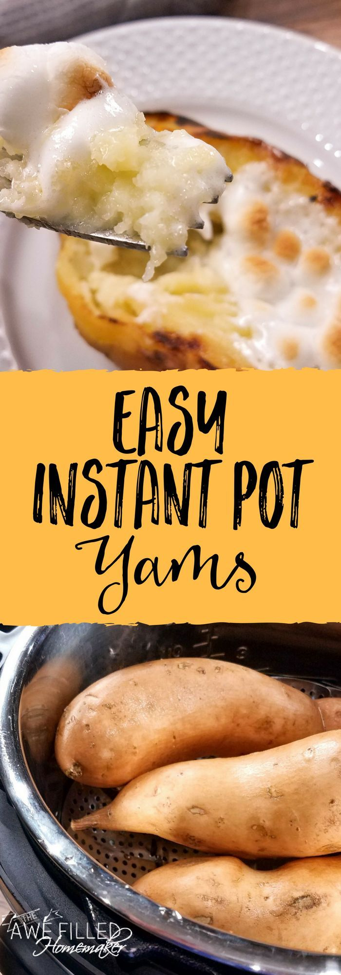 Sweet Potatoes, Yams & roots oh my! Wondering how to fix instant pot yams? Well never fear! I am sharing today a delicious recipe! Perfect for the holidays! #instantpot #instantpotrecipes #yams #instantpotyams via @AFHomemaker