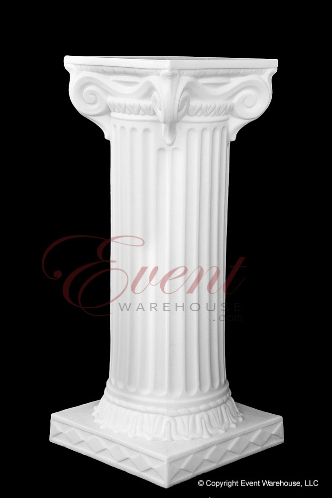 "24"" Empire Wedding Column Lightweight Plastic Columns for Wedding Ceremonies and Receptions @ www.event-warehouse.com"