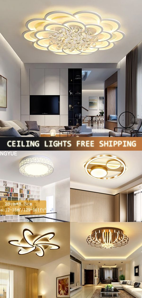 Modern Crystal Led Ceiling Lights For, Living Room Ceiling Lamp Shades