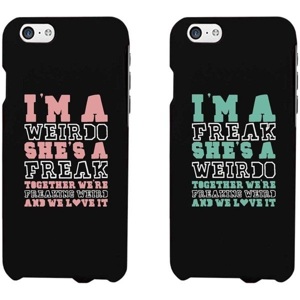 Funny BFF Phone Cases Freak and Weirdo Phone Covers for Apple iphone... (£12) ❤ liked on Polyvore featuring accessories, tech accessories, phone cases, phone, cases, electronics, samsung, galaxy smartphone, samsung galaxy smartphone and prepaid smartphones