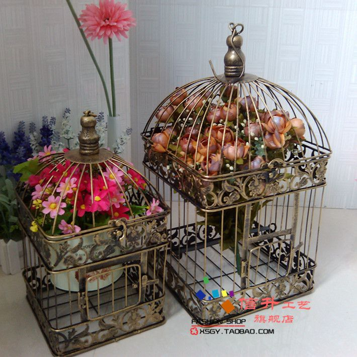 nieuwe aankomst modeijzeren vogelkooi bruiloft decoratie smeedijzeren decoratie witte vogelkooi studio props