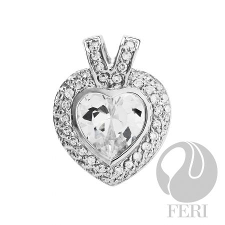 .925 sterling silver heart pendant-Light of Love from GWT FERI designers lines