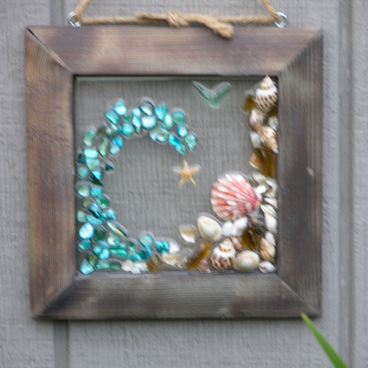 Beach Glass & Sea Shell Wave by SeasidesbyDesign on Etsy