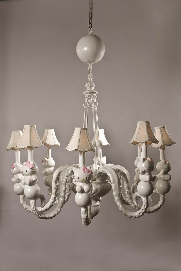 170 best lighting images on pinterest chandeliers chandelier and hello kitty white chandelier arubaitofo Choice Image