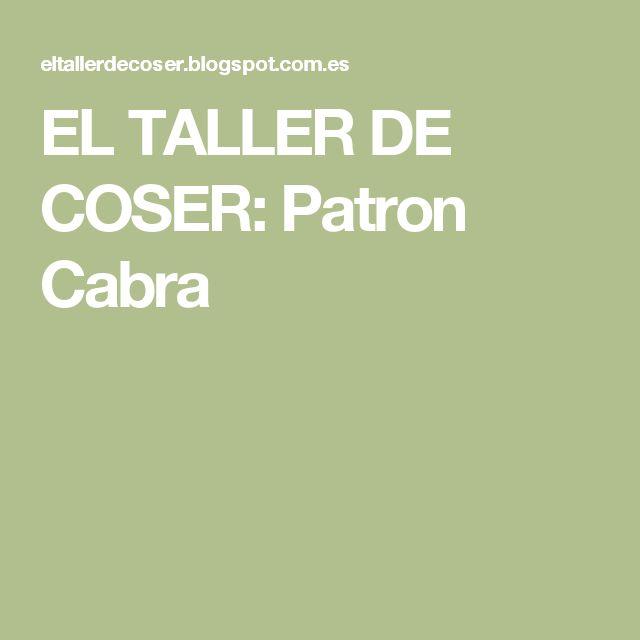 EL TALLER DE COSER: Patron Cabra