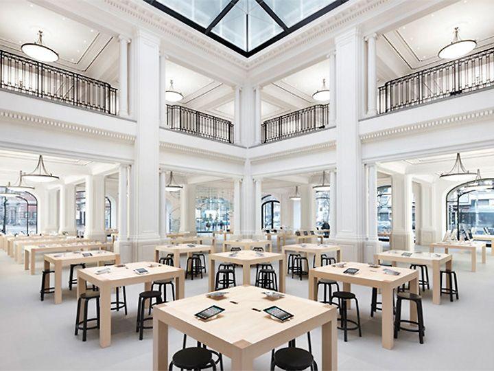 interior design of Apple's Retail Stores Apple Store Amsterdam