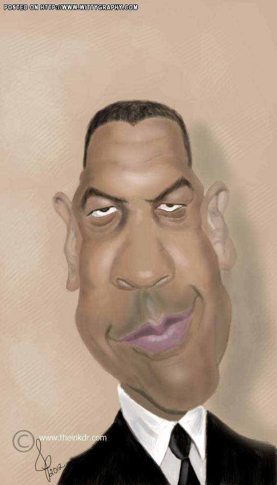 Denzel Washington #Caricature #FunnyFaces