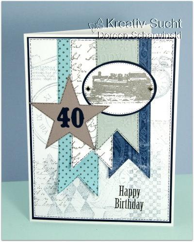 ♥ Kreativ - Sucht ♥: Bannerkarte zum 40.