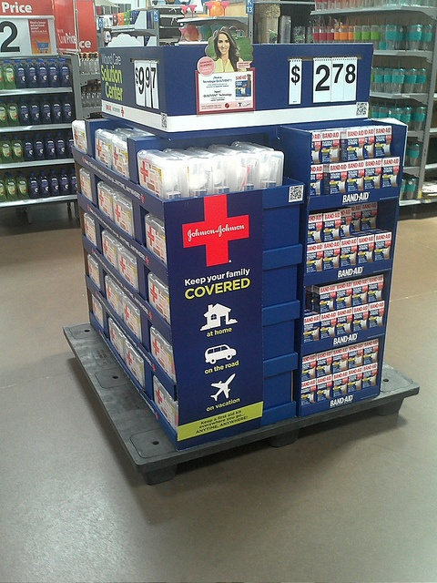 Johnson & Johnson Band Aid Full Pallet by kendalkinggroup, via Flickr