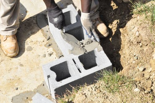 how to build a foundation wall block