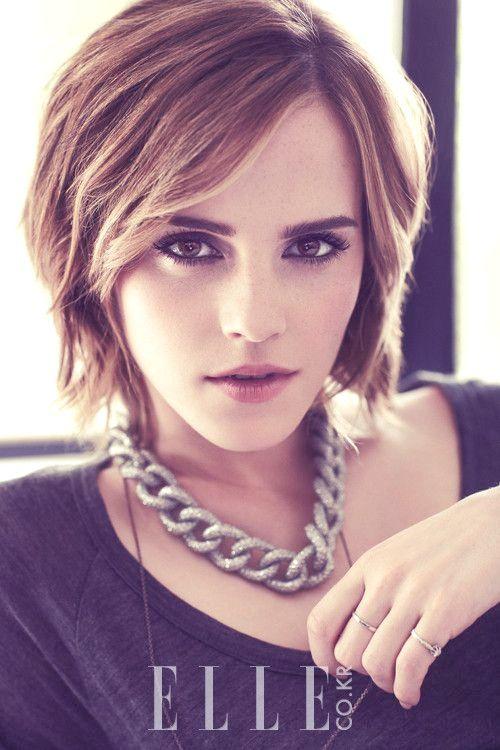 16 Heißeste Promi Kurze Frisuren Emma Watson Kurze Haare