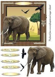 Wild Animals 4 Quick Card Topper