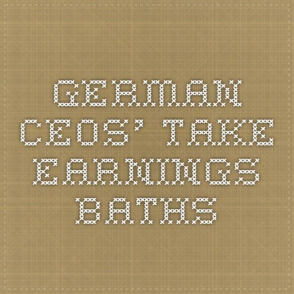 German CEOs' take Earnings Baths (IAS 37 relevance)