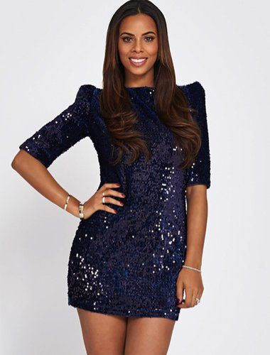 Pin for Later: Be Seen This Festive Season in a Sequinned Party Dress Rochelle Humes Sequin Cut Out Back Mini Dress Rochelle Humes sequin cut out back mini dress (£74)
