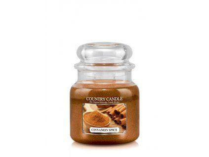 COUNTRY CANDLE Cinnamon Spice vonná sviečka stredná 2-knôtová (453 g)