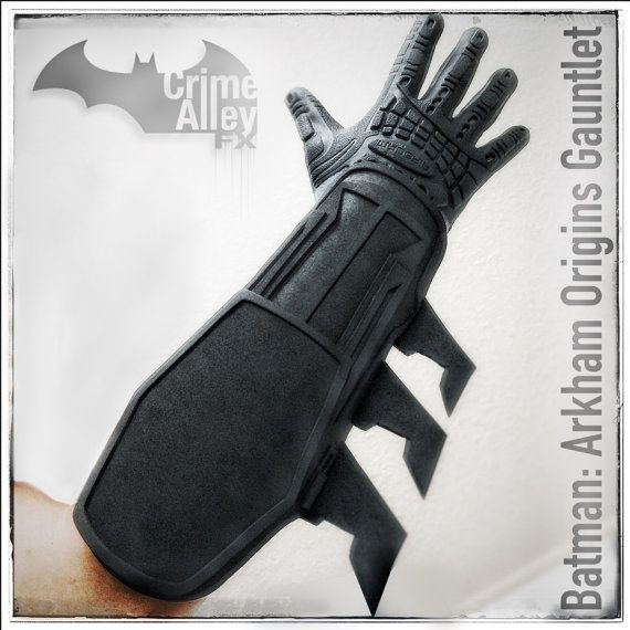 Batman Arkham Origins Gauntlets by CrimeAlleyFX on etsy