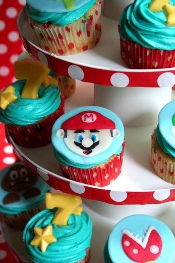 Super Mario cupcakes awesome!!!!!