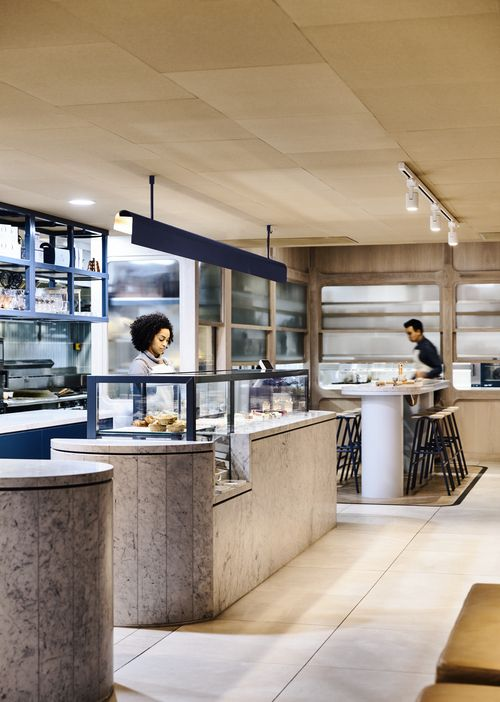 The Crux & Co, by Architects EAT. Inspired by 'form and materiality from the art deco era'.