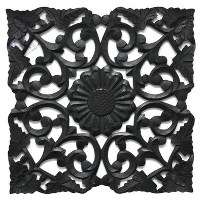 """ATTACH SCREEN TO THE BACK AND USE THIS ON WALL INSTEAD OF FRESH AIR RETURN GRILL !!!  DECORATIVE & FUNCTIONAL!  24""""sq $28.99 Fetco Home Decor Deja Handcrafted Medallion Wall Décor"""