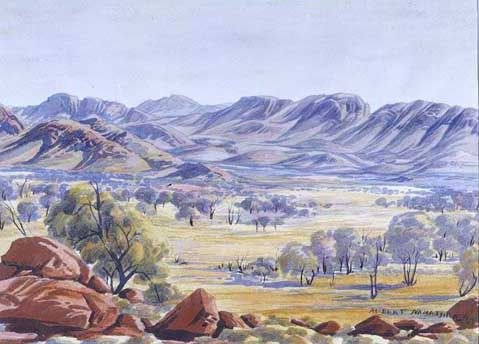 West Macdonnell Ranges, Central Australia, Northern Territory - Albert Namatjira 1902 - 1959 - Google Search